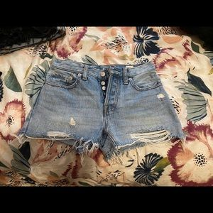 Free people jean short shorts